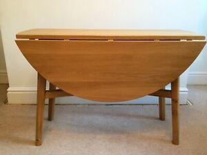 John Lewis Oak & Oak Veneer Drop Leaf Table