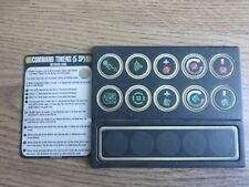 Star Trek Attack Wing OP Command Tokens & Reference card
