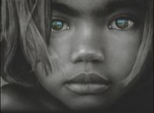 Charcoal Drawing Print - Aboriginal Girl