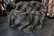 378 Canadian Raccoon Fur Blanket Real Fur Quilt Genuine Raccoon Throw Fur Plaid