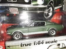 Auto World 1967 Ford Mustang GT Fastback Green Vintage Muscle True 1:64
