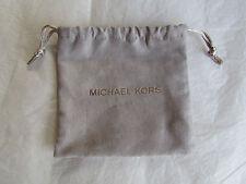 Michael Kors Pale Gray Drawstring Jewelry Bag NEW