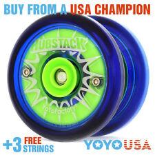 YoYoFactory Hubstack Yo-Yo Blue + FREE STRINGS