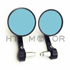 "HTTMT 1"" 25m Bar End CNC Rearview Motorcycle Mirrors Black"
