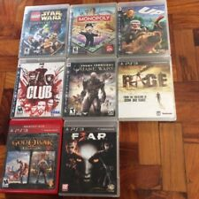 PLAYSTATION 3 PS3 GAMES: MONOPOLY STAR WARS LEGO GOD OF WAR QUAKE FEAR RAGE CLUB