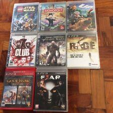 PLAYSTATION 3 PS3 GAMES: MONOPOLY STAR WARS LEGO GOD OF WAR QUAKE FEAR RAGE CLUB