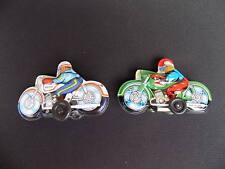 2 Motorrad-Fahrer, Blech, m. Schwungrad, siehe Bilder !