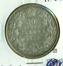 Canada 1914  50cents Coin  A.VF