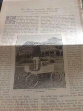 M51-3 1896 Ephemera 3 Pages Charles Kilpatrick Motor Car Stunt Rider Usa