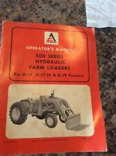 Original Allis Chalmers Operators Manual 500 Series Hydraulic Farm Loaders