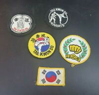 Lot of 5 vintage Take Kwon Do martial arts patches