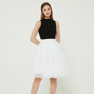 Women Summer Mesh Multilayer Tutu Skirt Tulle Petticoat Dress Party Dance Sexy