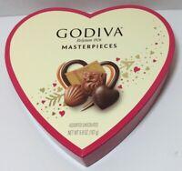 "Godiva Chocolates Valentine Heart Box Only 8"" Crafts Wedding Love Notes"