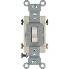 60 Pk Leviton Almond 15A Grounded Quiet 4-Way Toggle Light Switch SO6-CS415-2TS