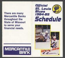 1984-85 St. Louis Blues NHL Hockey Pocket Schedule
