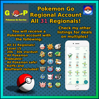 Regional - All Regionals in 1 account - GO Pokemon - Klefki Bouffalant!