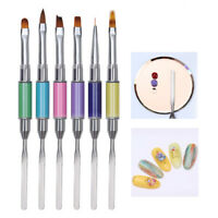 Dual-ended Acrylic Painting Pen UV Gel Liner Brush Drawing Brush Nail Art Tool