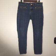Michaels Kors Womens Jeans Size 4 Zipper Pocket Skinny Medium Wash Slim Fit