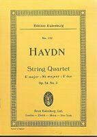 Haydn ~ String Quartett E Dur Op. 54 No. 3 ~ Taschenpartitur