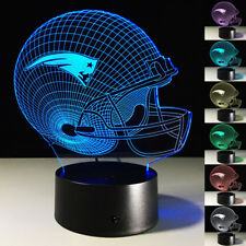 3D LED Night Light New England Patriots Helmet Touch Swift Table Bed Lamp Gifts