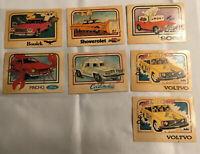 "Vintage Rare 1976 Wonder Bread ""Krazy Cars""  Trading Cards ~ Lot Of 7 Old Ones"
