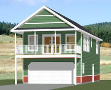 20x40 House -- 1 Bedroom 1.5 Bath -- 965 sq ft -- PDF Floor Plan -- Model 6K