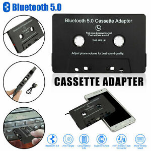 Bluetooth 5.0 Car Audio Stereo Sound Cassette Tape Adapter MP3 Hands-Free Aux