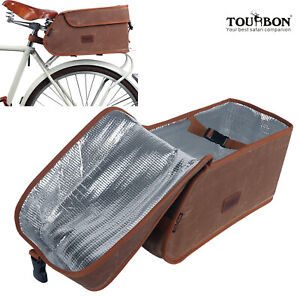 Tourbon Bike Rear Bag Saddle Case Cooler Pack Insulated Storage Tail Picnic Box