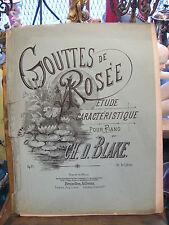 Partitura Gotas Rocío d Ch Blake para Piano