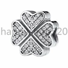 925 European sterling  CZ silver charms pendant bead For bracelet chain bangle