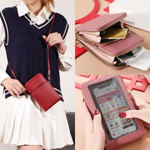 PU Crossbody Shoulder Mobile Phone Purse Touch Screen Bag Card Pocket Wallet