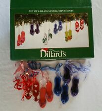 4 Glass Embellished Flip Flop Sandals Christmas Ornaments from Dillard's New
