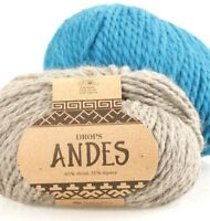 Chunky blend of alpaca and wool Drops ANDES, 3.5 oz,  98 yds