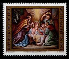 Weihnachten. Christi Geburt. Fresko. 1W. Österreich 1991