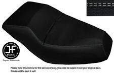 WHITE DS STITCHING CUSTOM FITS HONDA HELIX CN 250 DUAL VINYL SEAT COVER ONLY