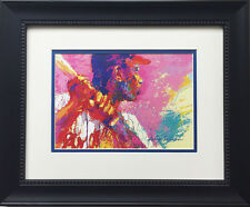 """LeRoy Neiman """"Hank Aaron"""" CUSTOM FRAMED ART PRINT Atlanta Braves Baseball HENRY"""