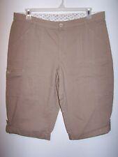 Lee Sinfully Soft Tan Capris, Ladies Size 18 Medium, Item #197