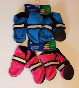 Set of 4 Top Paw Dog Walking Boots Protector Rubber Sole Outdoor Pet Shoes