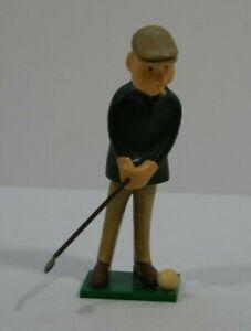 Vintage 1972 WILTON Hard Plastic Old Man Golfing, Golfer Cake Topper