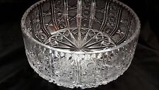 Fine English  Cut  Glass Fruit  Bowl  .