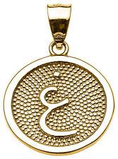 "Yellow Gold Arabic Letter "" ayn "" G Initial Charm Pendant"