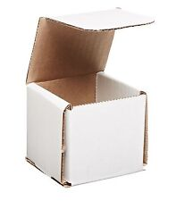 50 - 3x3x3 Small White Corrugated Cardboard Packaging Shipping Mailing Box Boxes