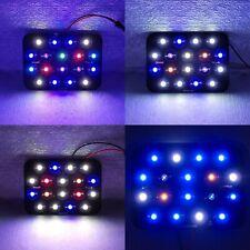 18W Purple Cyan Red Blue UV White Hybrid LED Lamp Light + Driver + PCB Aquarium