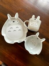 My Neighbor Totoro Set of 3 Plates Mugs Bowl Studio Ghibli