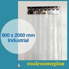 900 x 2000 x 2mm PVC Strips Clear Plastic Door Curtains Industrial Entry Strips