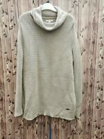Barbour ladies jumper camel brown cotton turtle neck loose size 10
