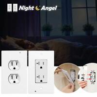 LED Light Night PIR Motion Sensor Wall Outlet Plate Face Plug Cover Hallway Lamp
