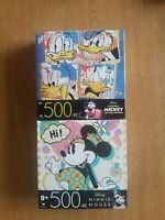 (2) 500 Pc Puzzles Jigsaw Disney Minnie Mouse & L'Original Donald Duck New!