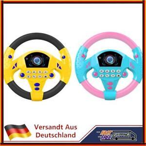Elektrisch Musical Copilot Buggy Lenkrad Kinder Baby Pädagogisches Spielze Heiß