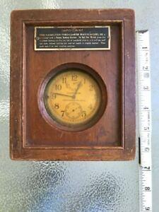 1942 Hamilton Bureau of Ships U.S. Navy Chronometer Watch Model 22 In Box Runs!